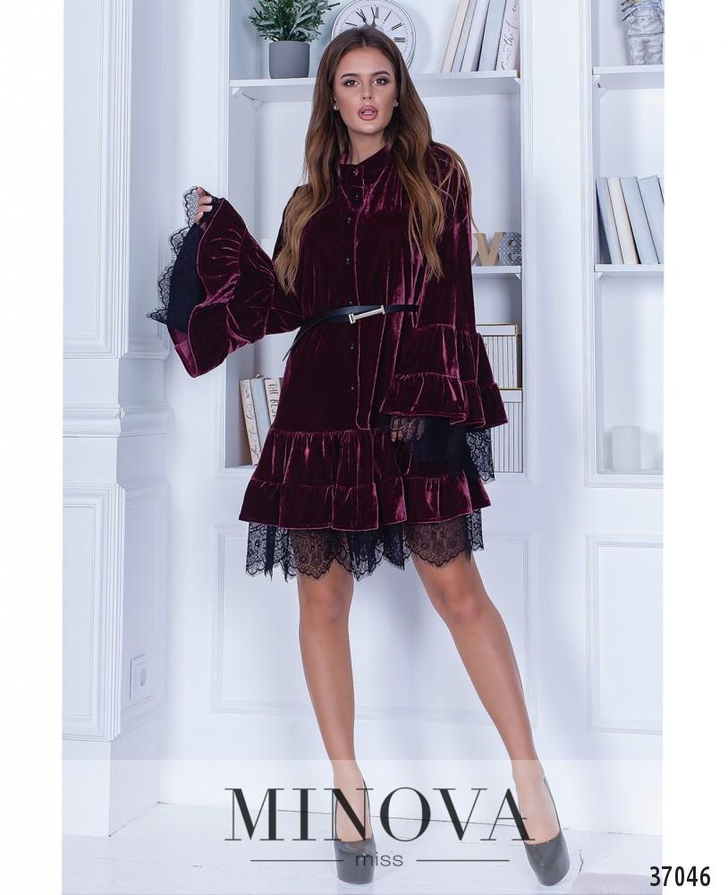 Платье №1411-марсала