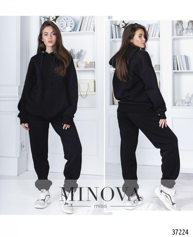 Спортивный костюм №1406-черный (н)