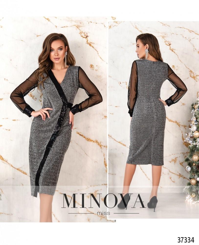 Платье №2155-серебро (н)