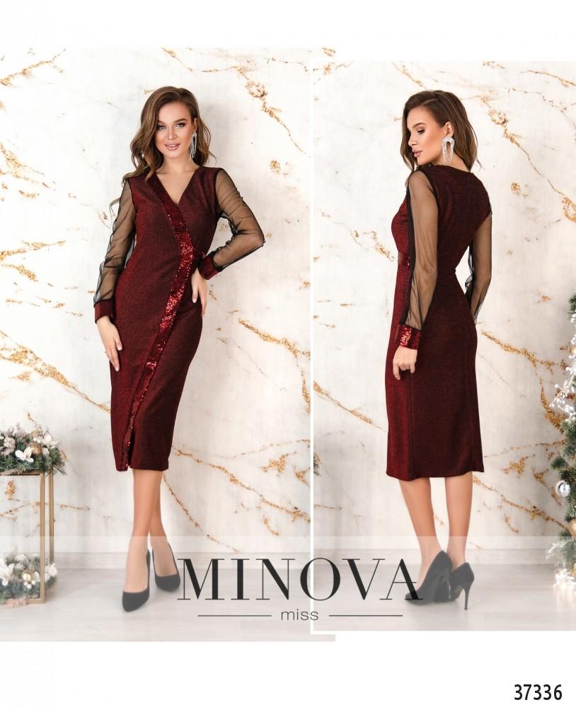 Платье №2155-красный (н)
