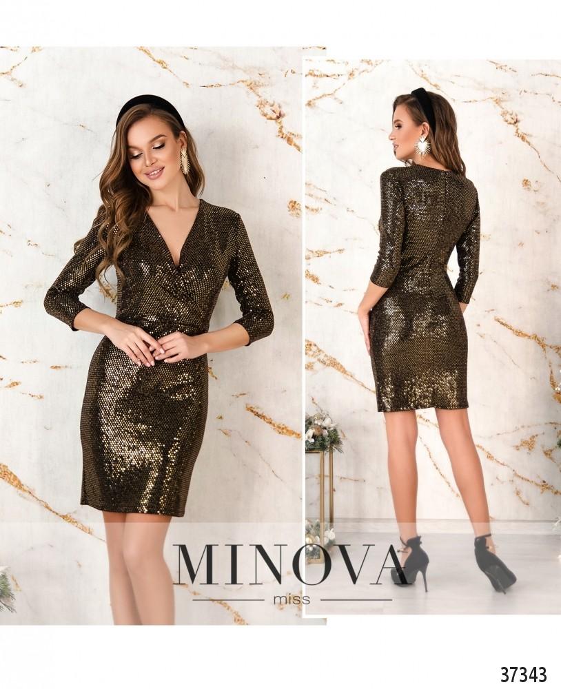 Платье №2156-золото (н)
