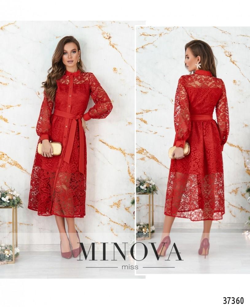 Платье №4113-красный (н)