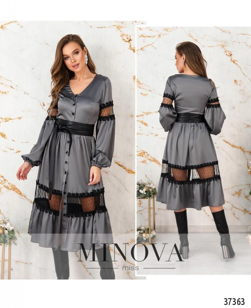 Платье №4114-мокко (н)