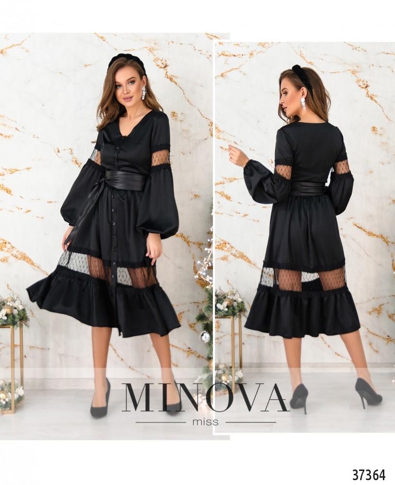 Платье №4114-черный (н)