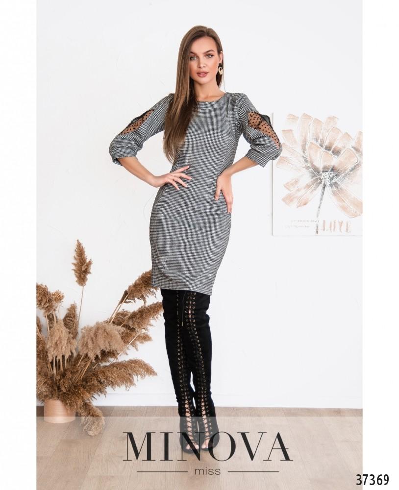 Платье №153-серый