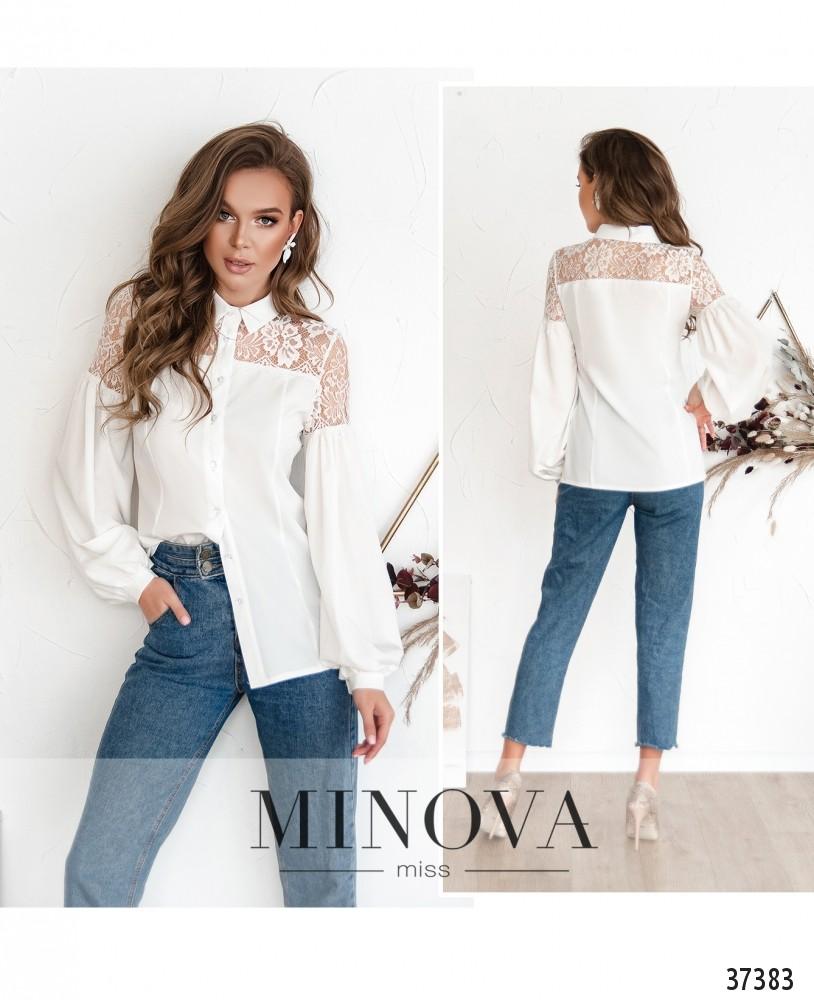 Рубашка №1064-белый (н)
