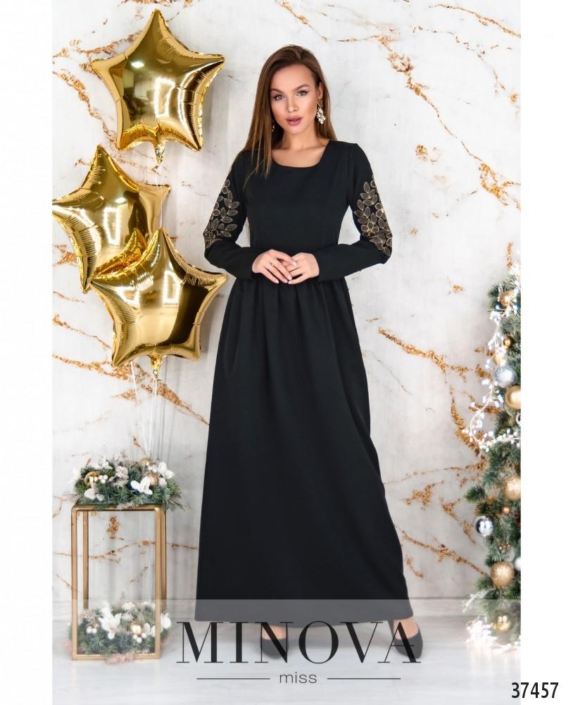 Платье №5209.29-черный