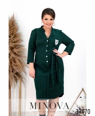 Платье №263-1-темно-зеленый