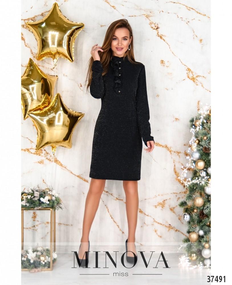 Платье №185Н-черный