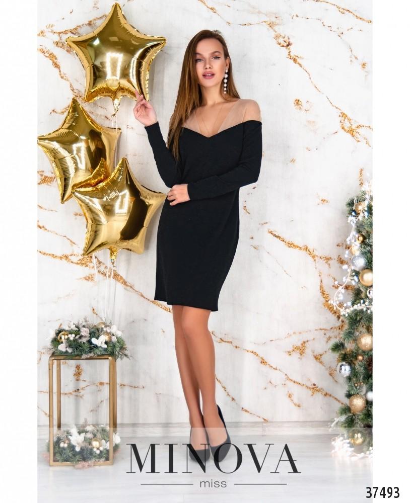 Платье №184Н-черный