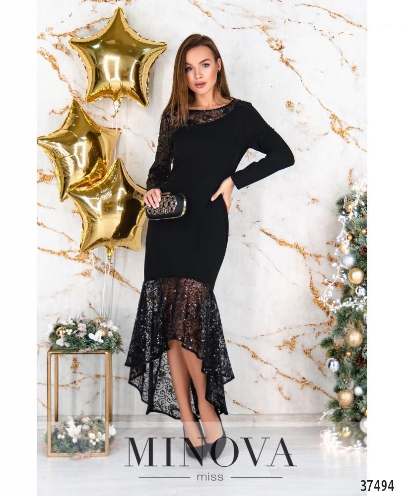 Платье №3307-черный