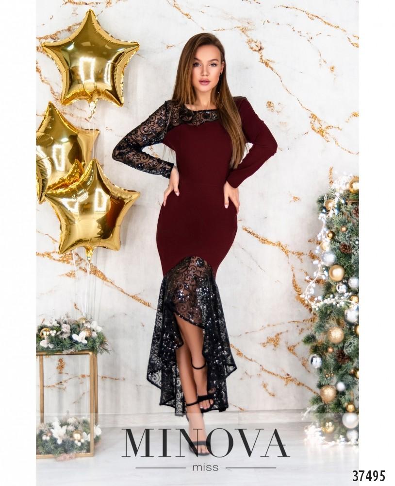 Платье №3307-бордо