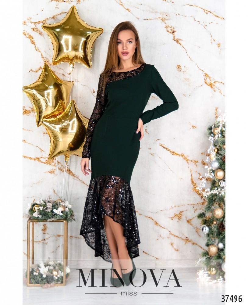 Платье №3307-темно-зеленый