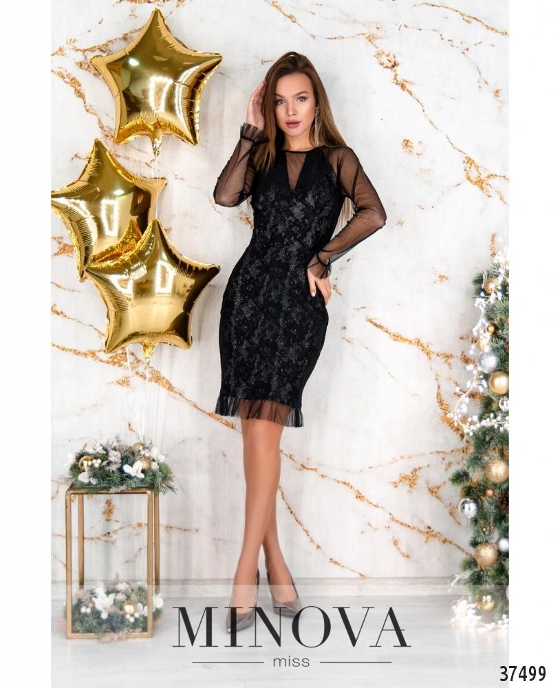 Платье №1155Н-черный