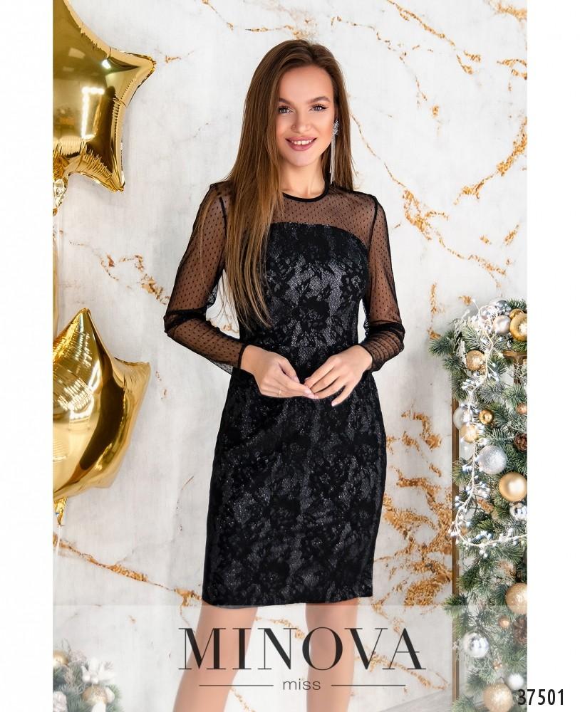 Платье №1156-черный