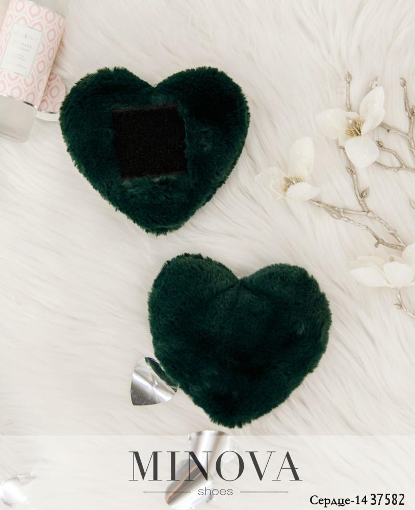Сердце №14-темно-зеленый