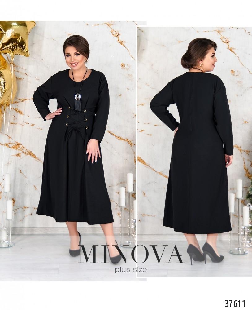 Платье №152-черный-М
