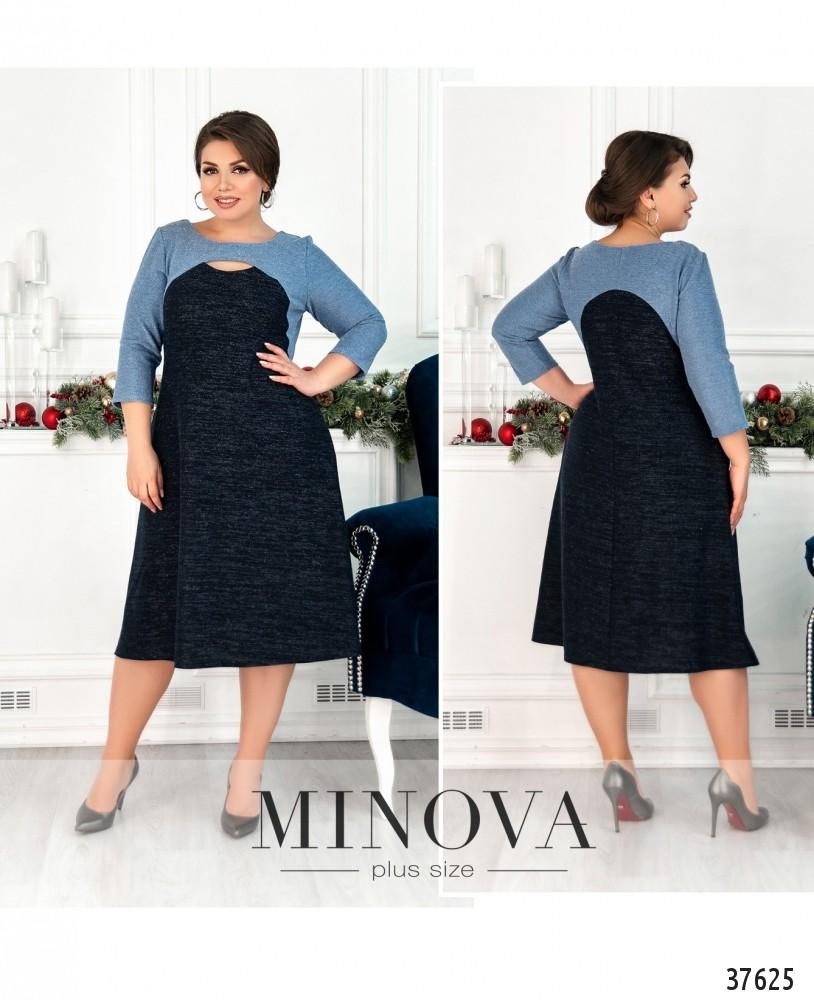 Платье №19-37-голубой-М