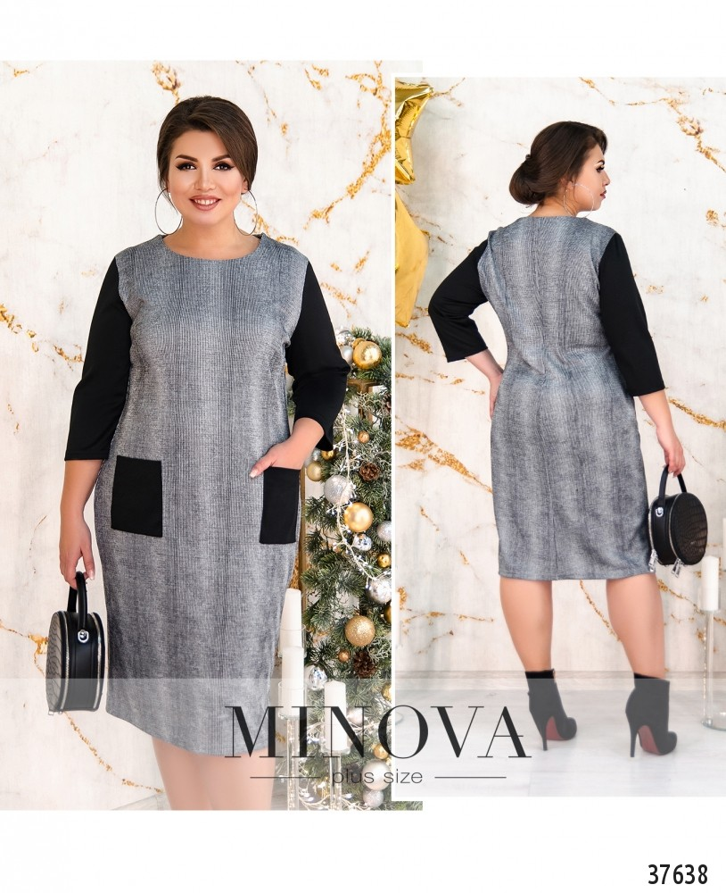 Платье №236Б-серый-М