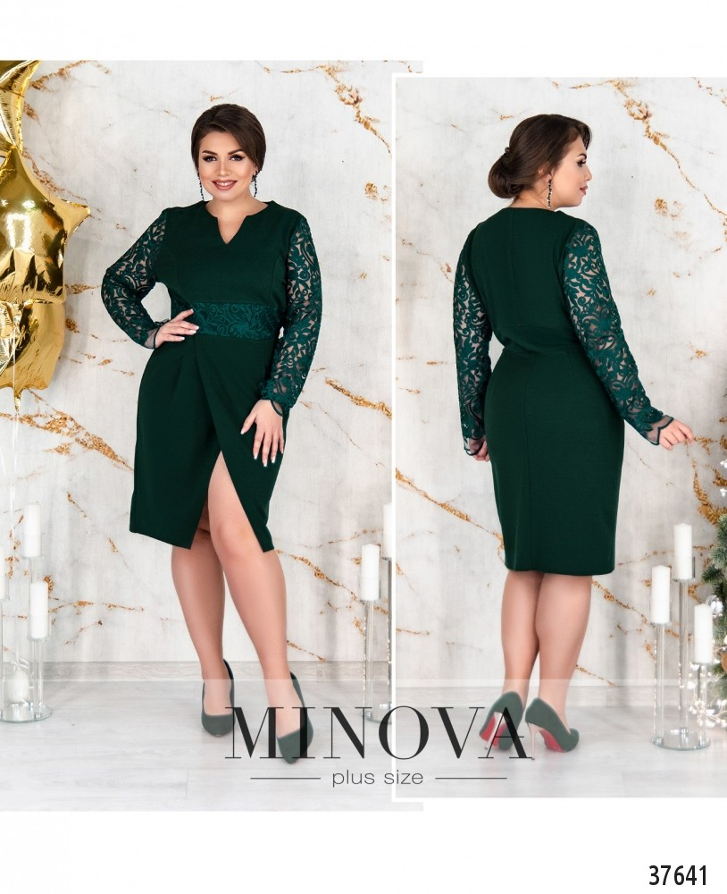 Платье №237Б-зеленый-М