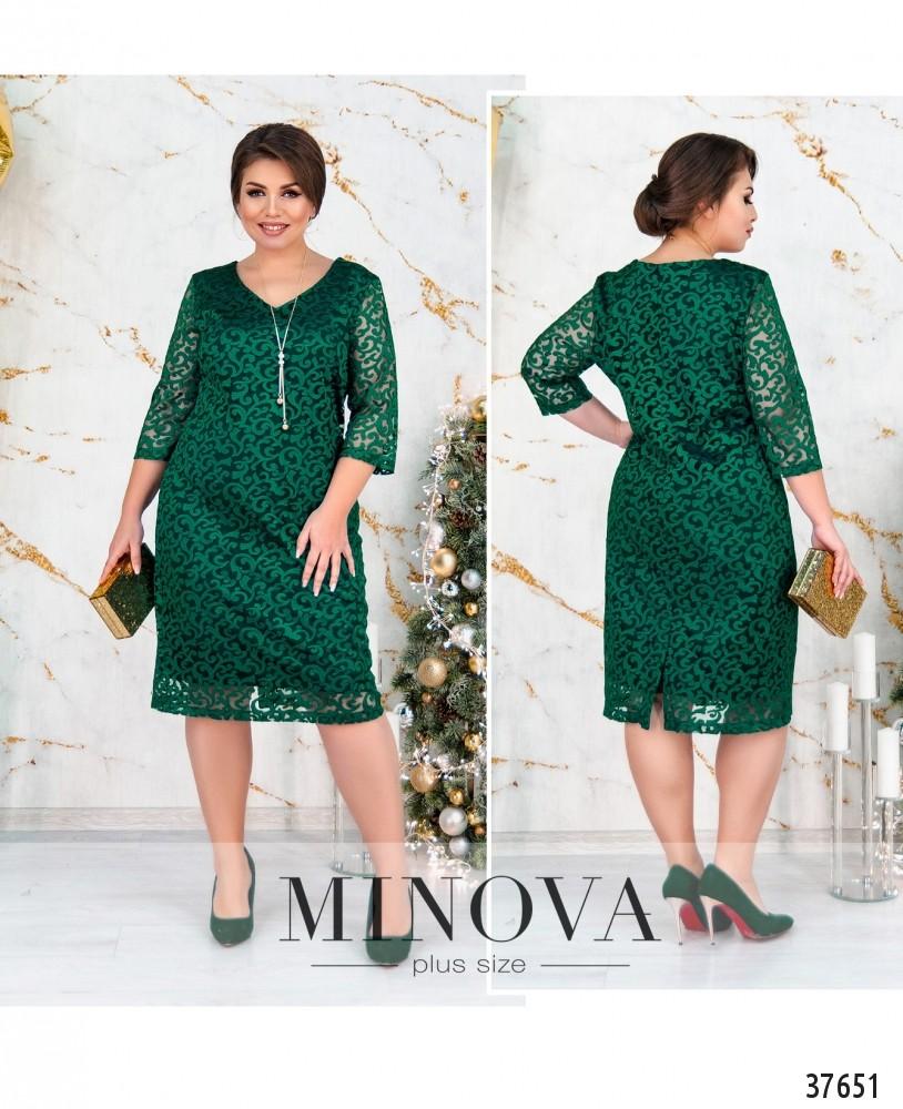 Платье №155-зеленый-М
