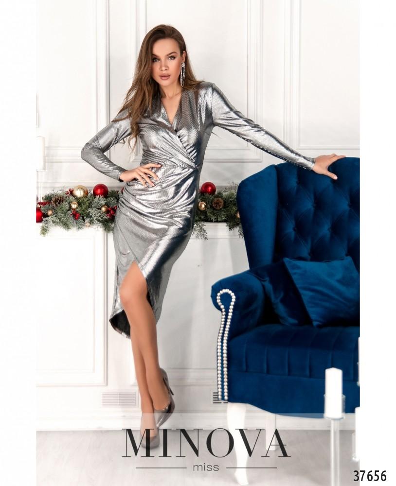 Платье №2158-серебро