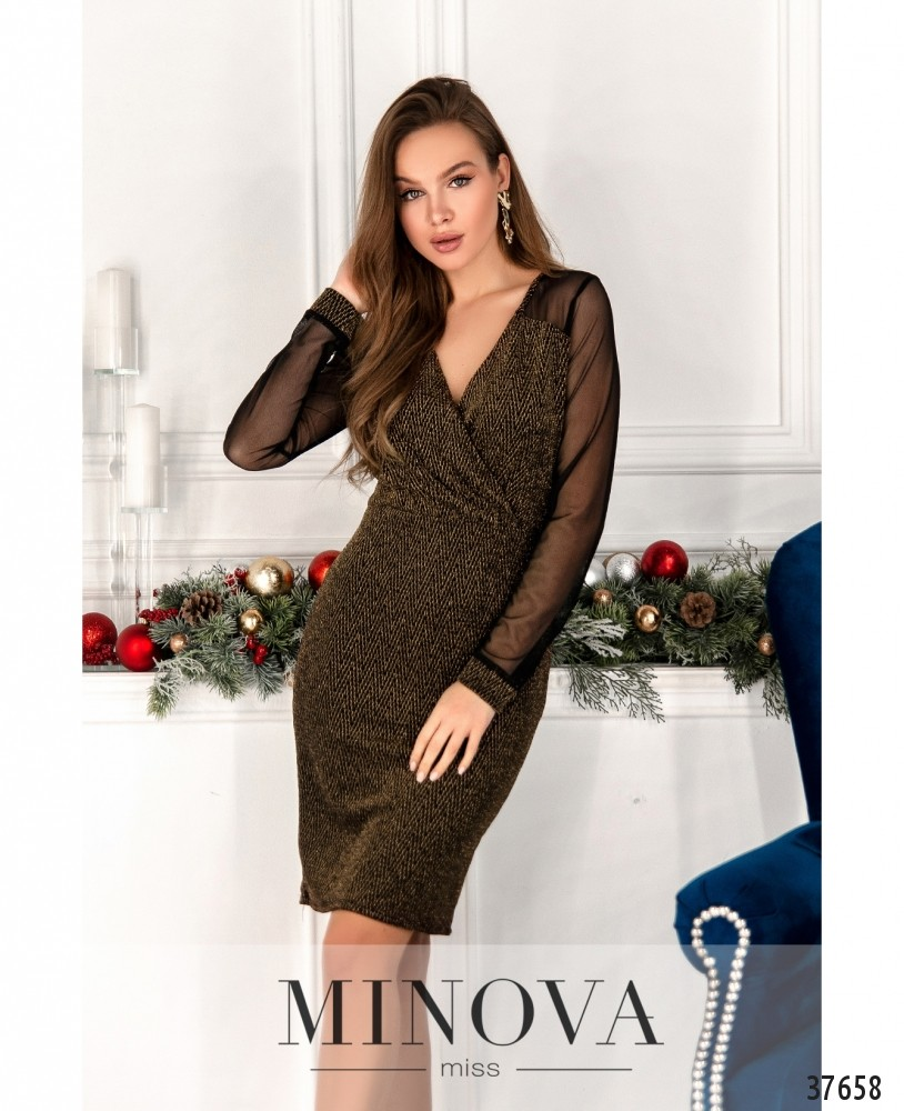 Платье №2157-золото