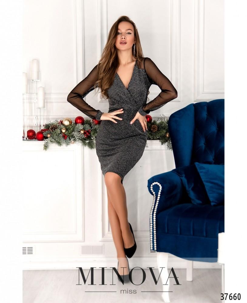 Платье №2157-серебро