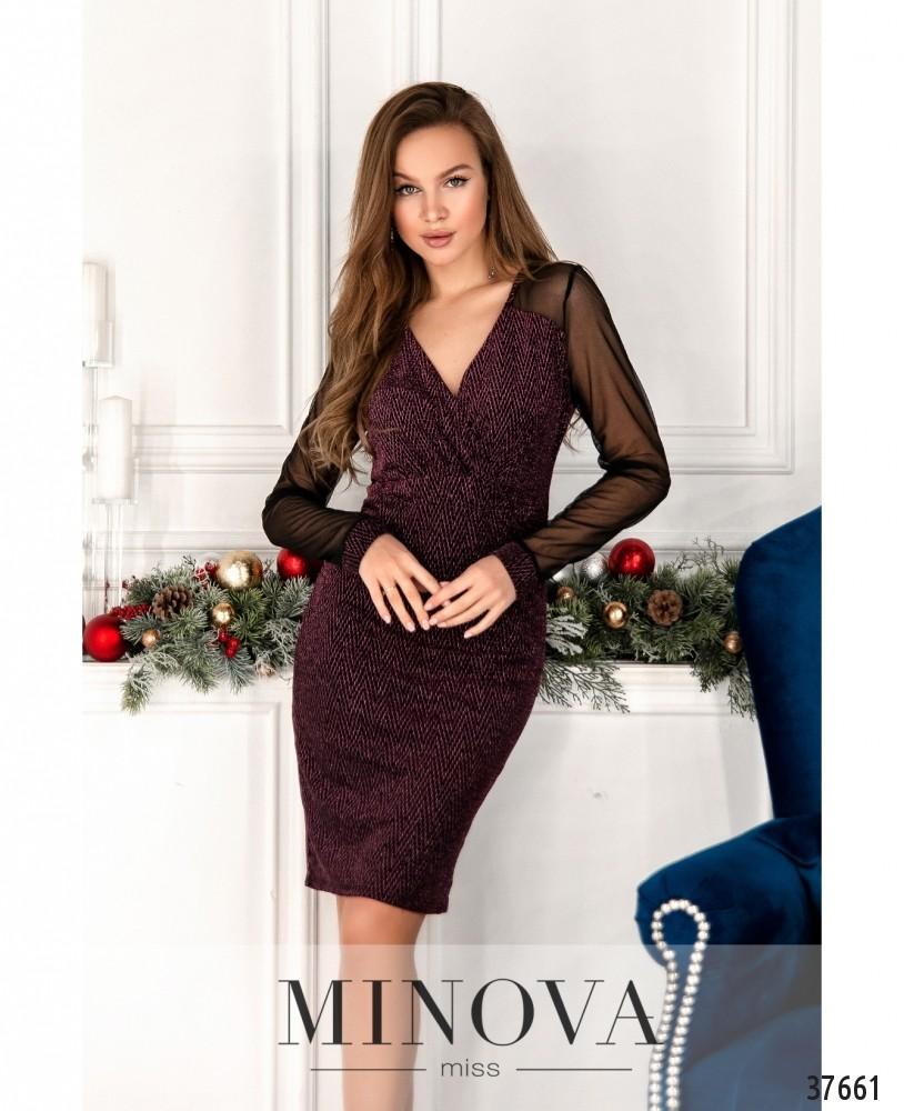 Платье №2157-пудра