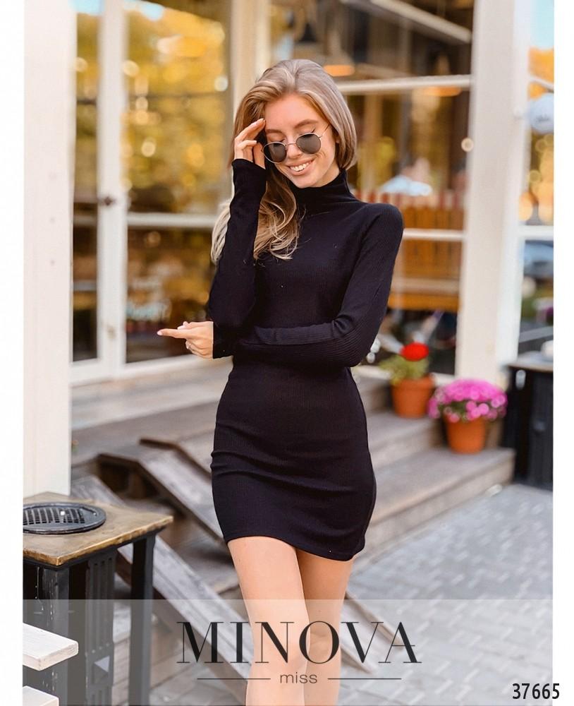 Платье №1401-черный