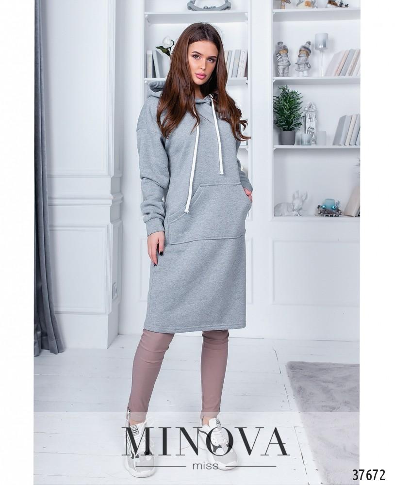 Платье №1405Н-серый