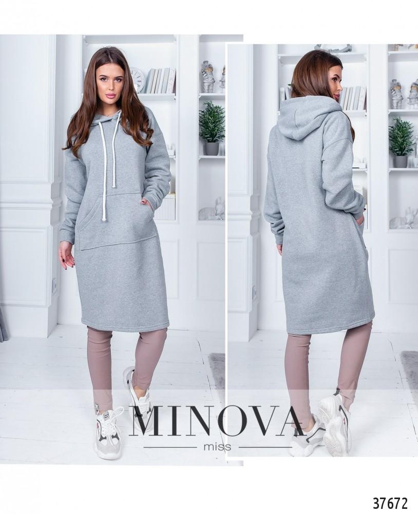 Платье №1405Н-серый-М