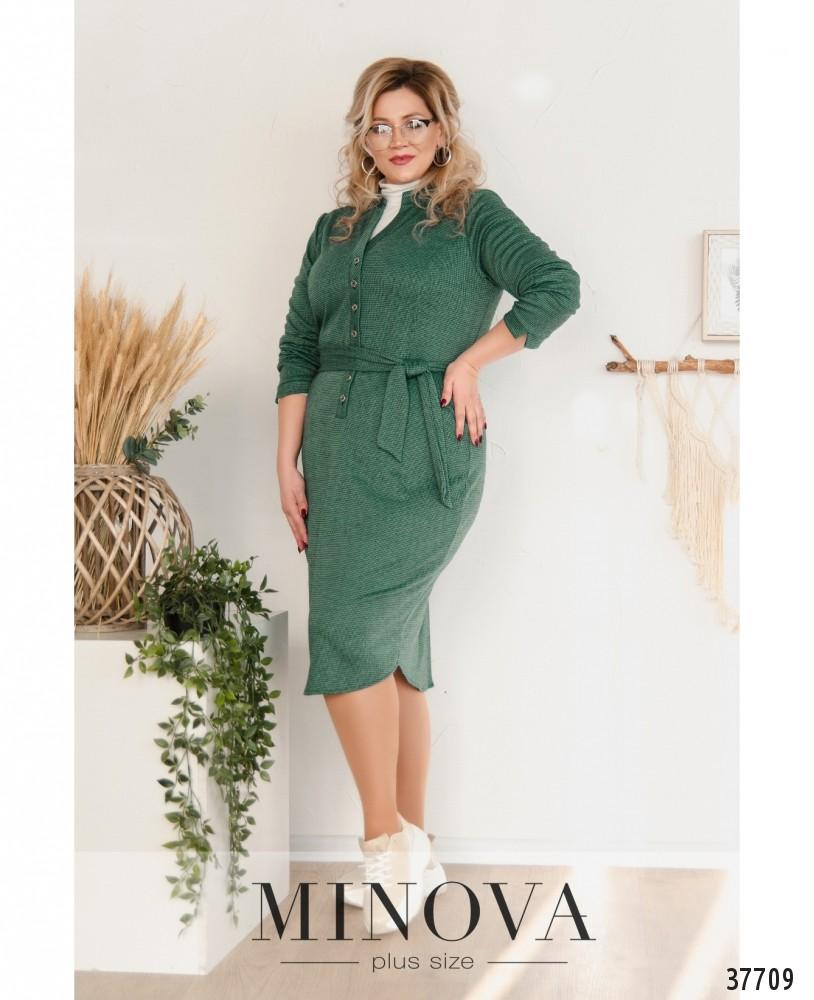 Платье №19-038-бирюзово-зеленый