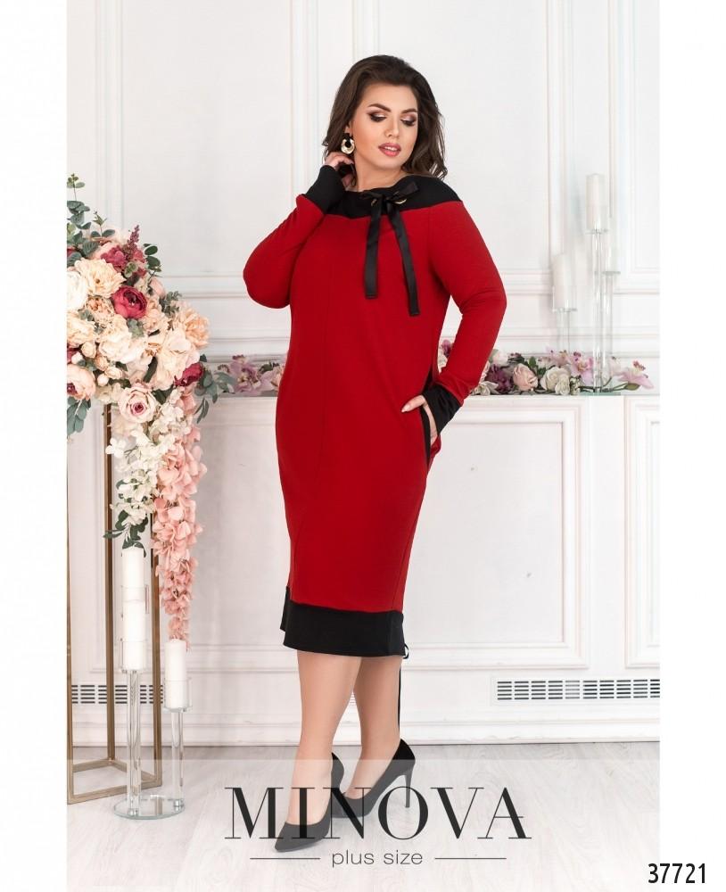 Платье №192-красный