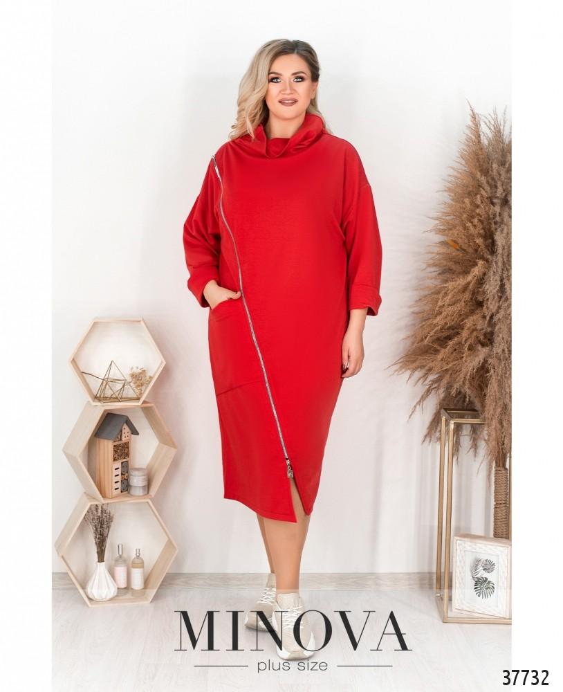 Платье №786-красный