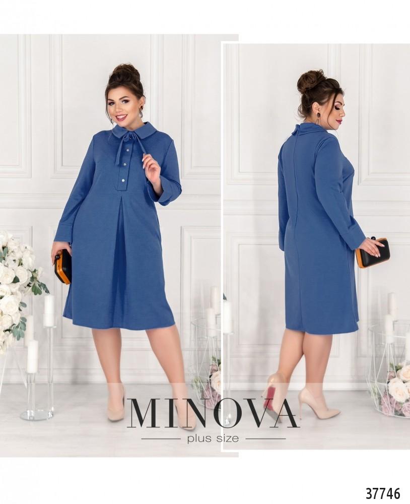 Платье №15861-1-голубой-М