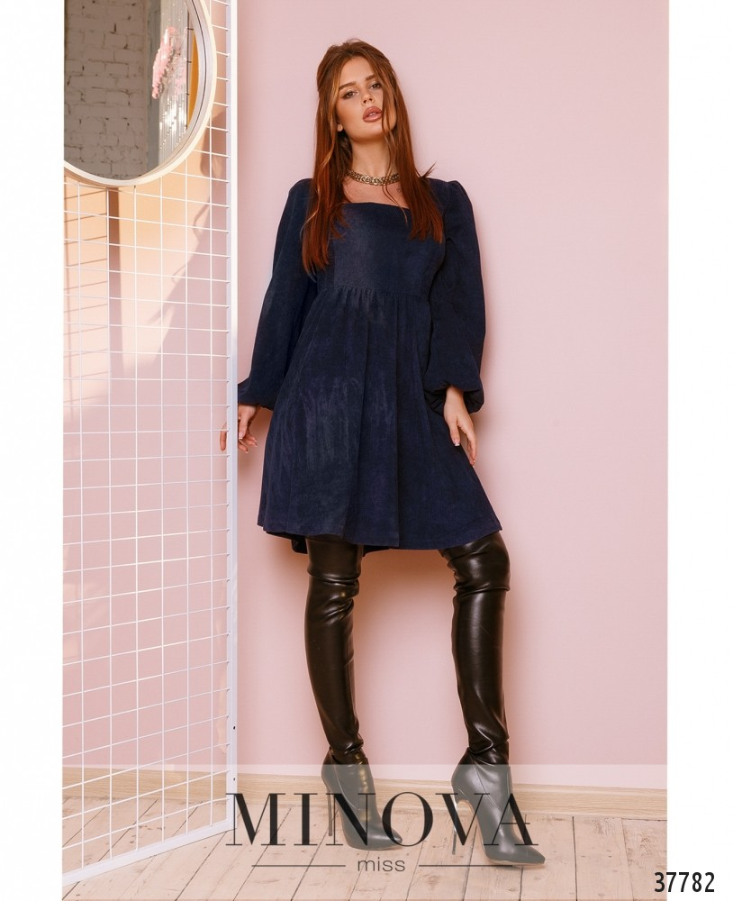 Платье №752Н-синий