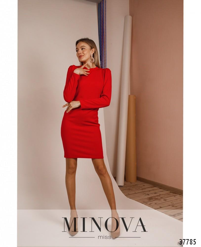 Платье №1477-Красный