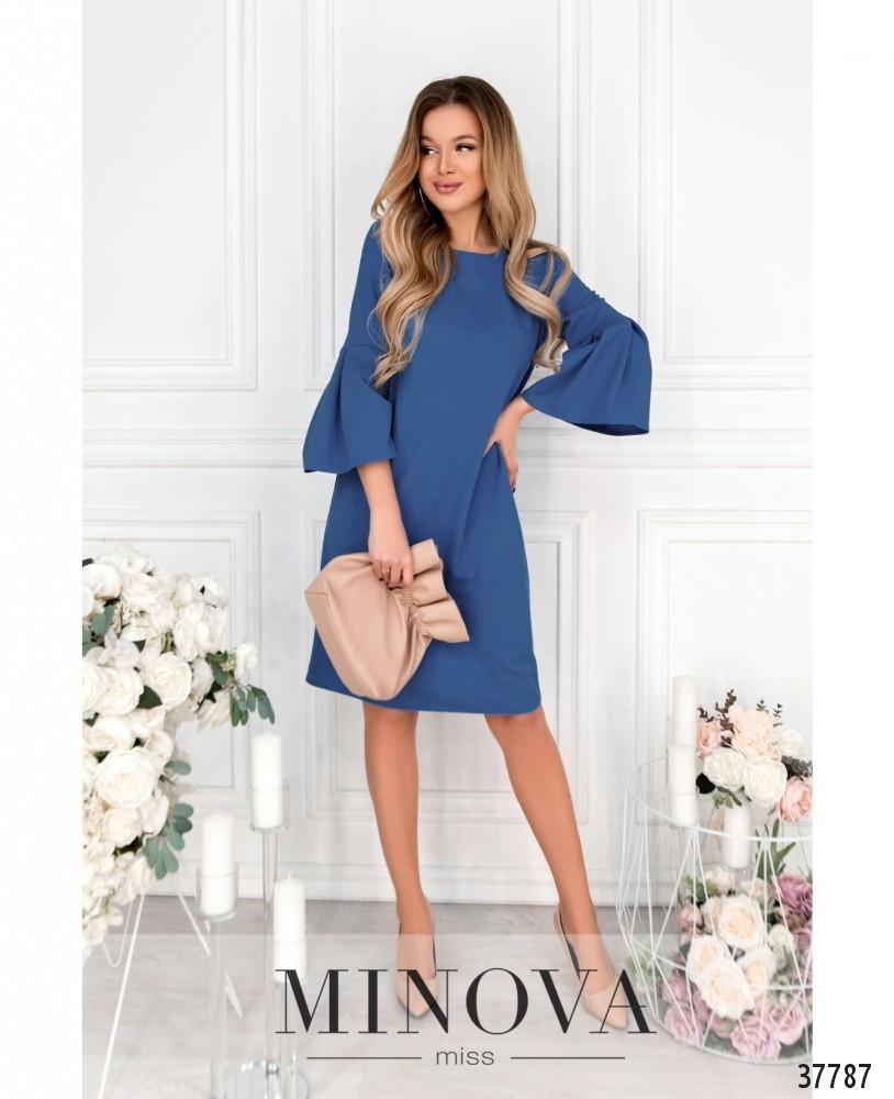 Платье №18951-джинсовый