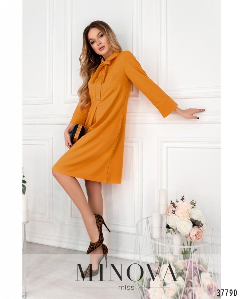 Платье №15861-горчичный