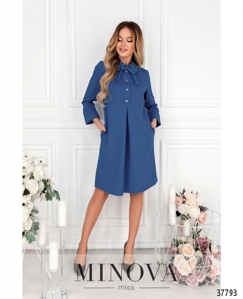Платье №15861-джинсовый