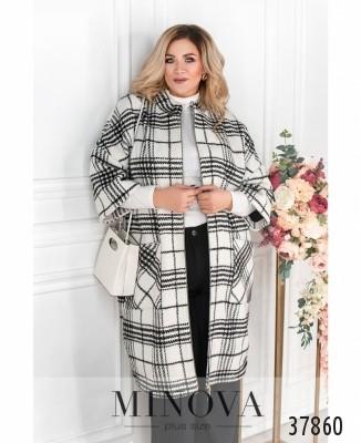 Пальто №14701-1-белый