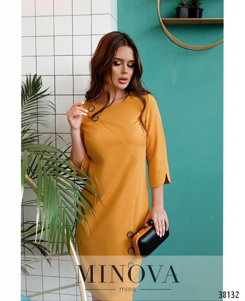 Платье №4154-горчичный (н)