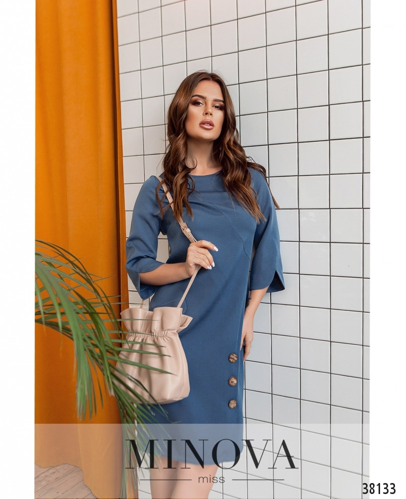 Платье №4154-джинсовый (н)