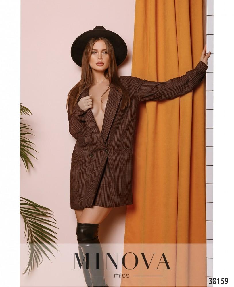 Пиджак №751-коричневый (н)
