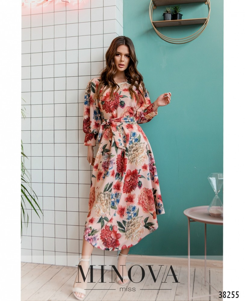 Платье №3137-пудра (н)