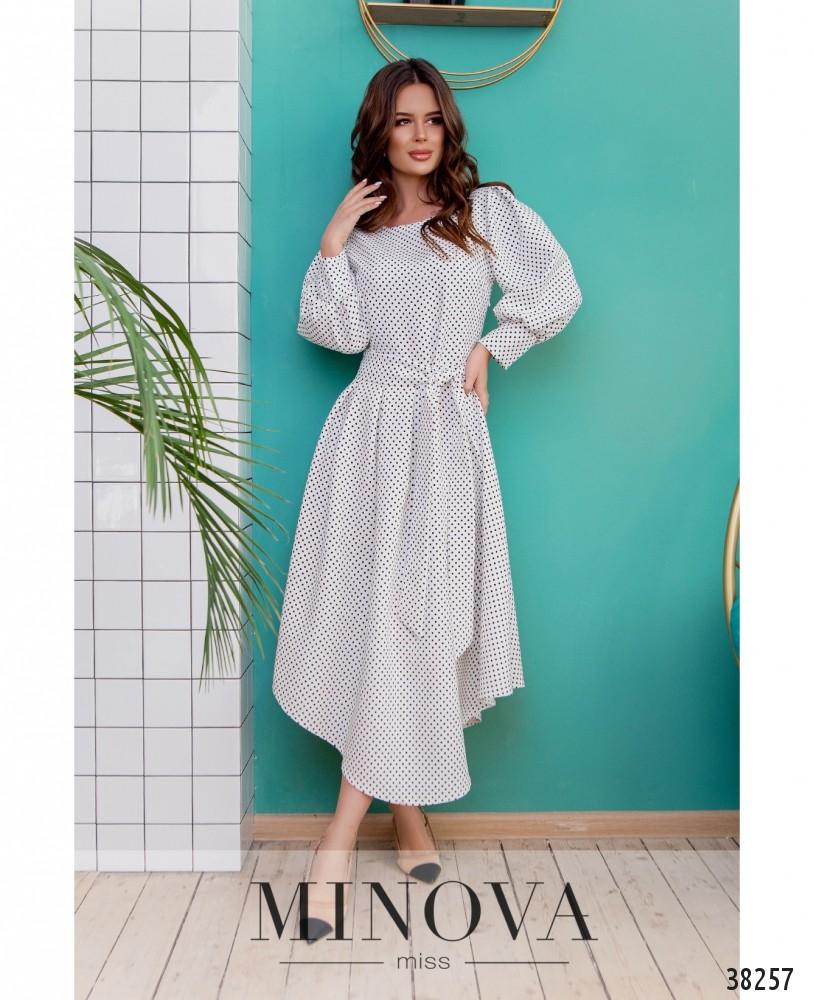 Платье №3137-молочный (н)