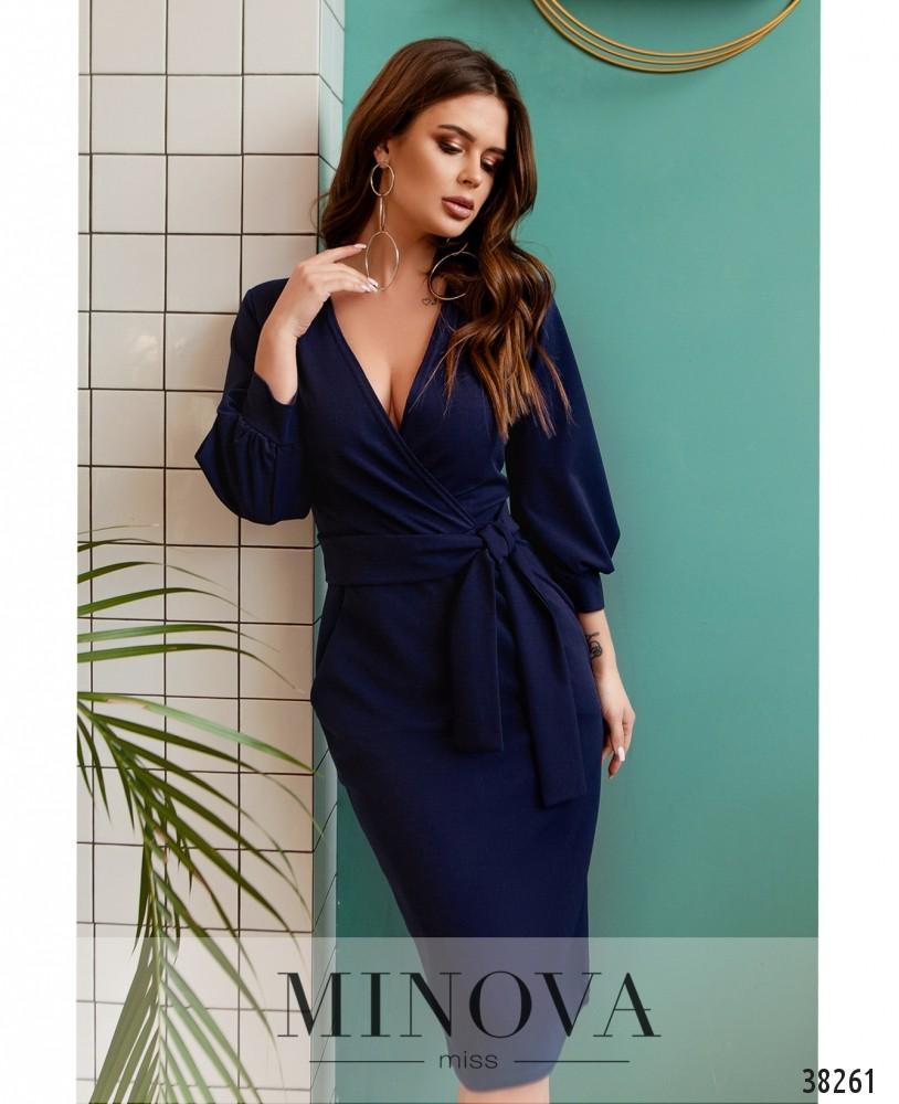 Платье №510-синий (н)