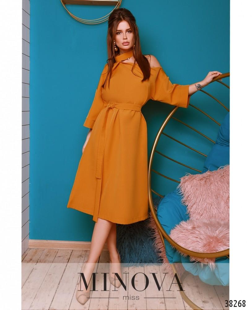 Платье №759-горчичный (н)