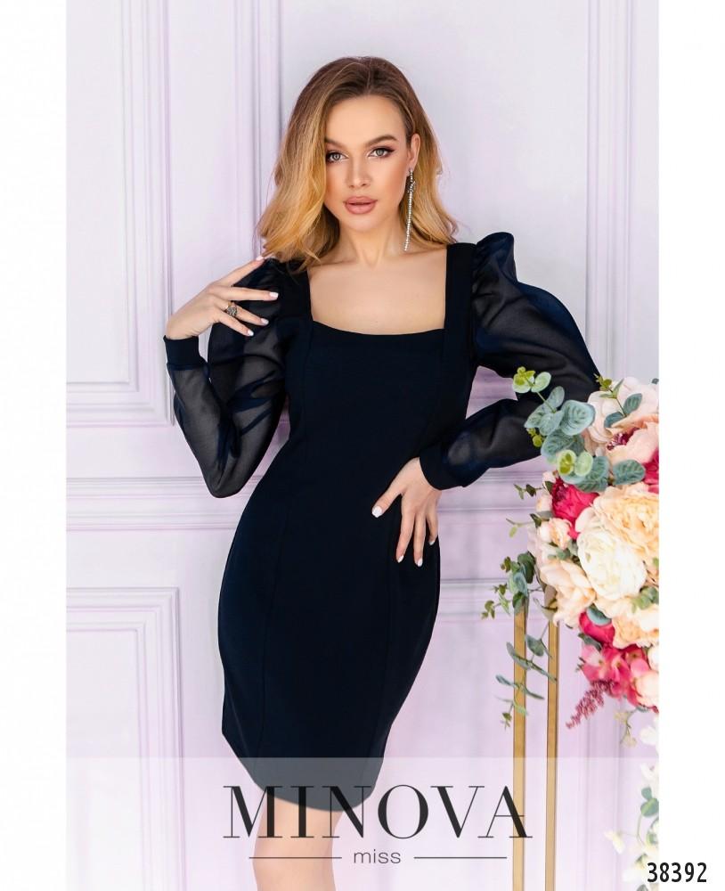 Платье №247-1-синий (н)